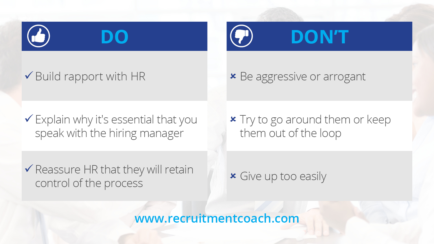 Recruitment-Coach-Working-with-HR-Dos-Donts